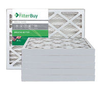 AFB Silver MERV 8 14x25x2 Pleated AC Furnace Air Filter. Filters. 100% produced in the USA. (Pack of 6)