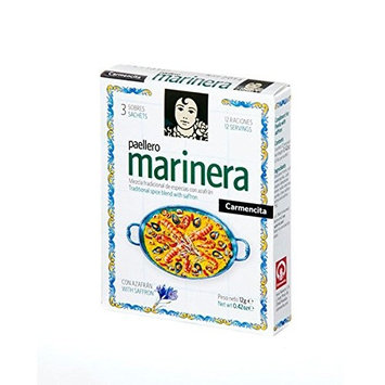 Paellero Paella Marinera Seasoning with Saffron Seafood Paella Mix (3 Packets) Gluten Free