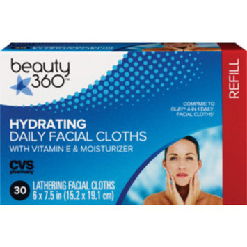 Beauty 360 Hydrating Daily Facial Cloths, 30CT