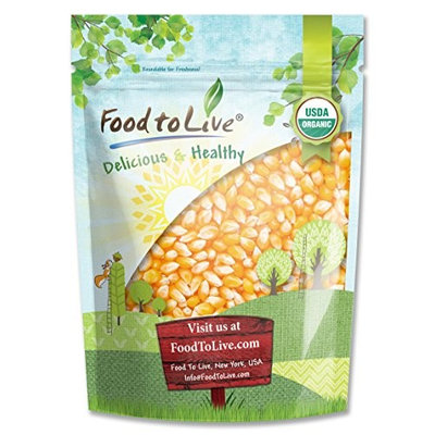 Food To Live ® Certified Organic Corn (Non-GMO, Bulk) (3 Pounds)