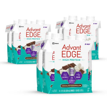 Abbott Laboratories,abbn7 EAS AdvantEDGE High Protein Shake Chocolate Marshmallow Ready-to-Drink, 30 g of Protein 11 fl oz Bottles (Pack of 4)