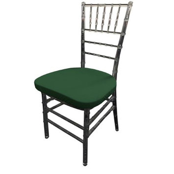 LA Linen SpandexCushionCover-Pk4-GreenHuntX20 Spandex Chiavary Chair Cushion Cover Hunter Green - Pack of 4