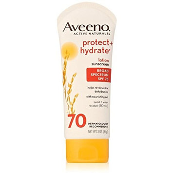 AVEENO Active Naturals Protect + Hydrate Lotion Sunscreen SPF 70 3 oz (12 Pack)