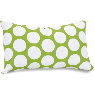 Majestic Home Goods Black Large Polka Dot Small Decorative Pillow, 12