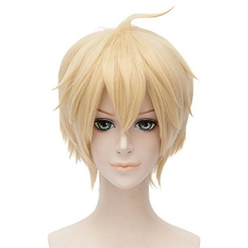 Seraph of the End Cosplay Wig Mikaela Hyakuya Anime Costume Short Wig (Blonde)