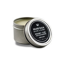 Beard Balm: Bergamot + Ylang with Distilled Cedarwood - 2 oz. Canadian made with luxury 100% Natural CertClean Certified Ingredients. Beard Structure Wax for Unruly Beard Hair.