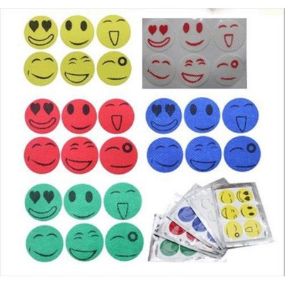 The Source Force Mosquito Repellent Smiley Face Stickers (Set of 4 Sheets)