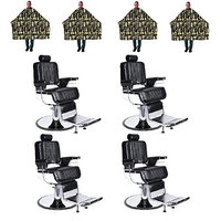 Barber Package 4 Heavy Duty Chairs Free Betty Dain Capes BP-71_188_04021X4