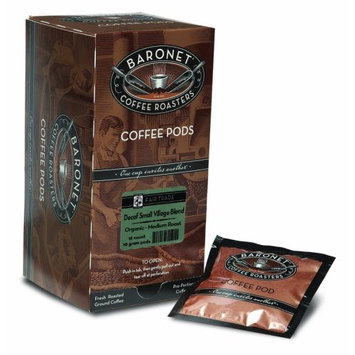 Baronet Coffee Fair Trade Organic Decaf Small Village Blend, 18-Count Coffee Pods (Pack of 3)