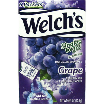 Welch's Singles To Go! Drink Mix, Grape, 0.45 Oz, 6 Ct