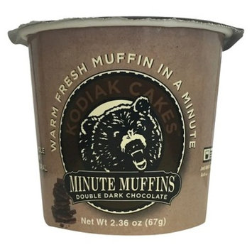 Kodiak Cakes Minute Muffins High Protein Snack, Double Dark Chocolate, 2.36 Ounce (Pack of 12)