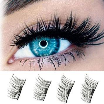 Rockrok 4PCS Magnetic False Eyelashes, 3D Reusable Eye Lashes for Natural Look - Ultra Thin