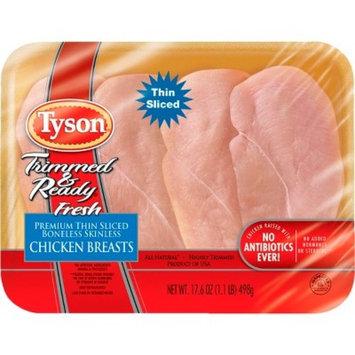 Tyson Thinly Sliced Boneless Skinless Chicken Breast - 1.1lb