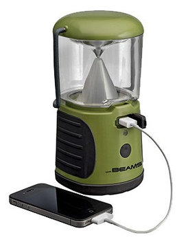 Mr Beams Mr. Beams UltraBright Lantern with USB Charger Black Green