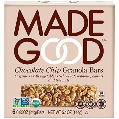 Made Good, Granola Bar, Organic Chocolate Chip, Pack of 6, Size - 6/5 OZ, Quantity - 1 Case []