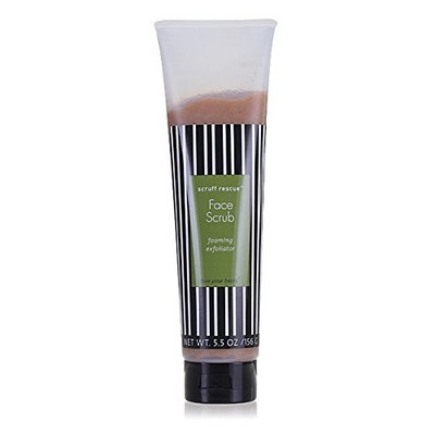 Scruff Rescue Face Scrub - Natural Foaming Exfoliator Gently Buffs Your Face Then Washes Away Grime. Helps Prevent Ingrown Hairs. Without Microbeads 5.5 Ozs