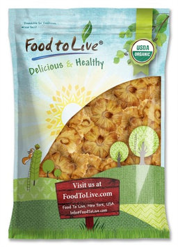 Organic Dried Pineapple Rings - Non-GMO, Unsulfured, Unsweetened, Bulk (by Food to Live) 5 Pounds