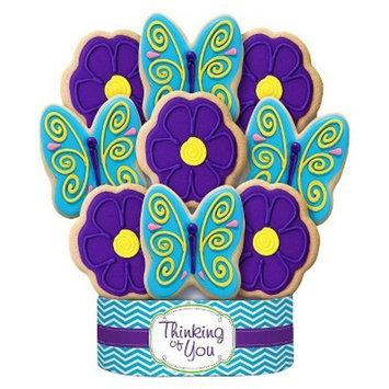 Brighten Your Day Butterflies & Flowers Cookie Bouquet 9 Cookie Arrangement