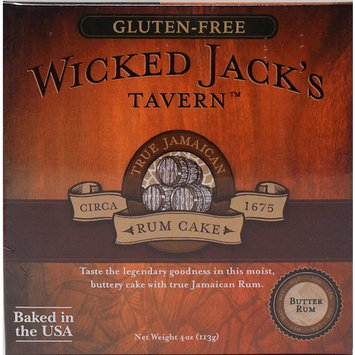 Wicked Jack's Tavern Jamaican Rum Cake (Gluten Free Butter Rum, 4 Ounce)