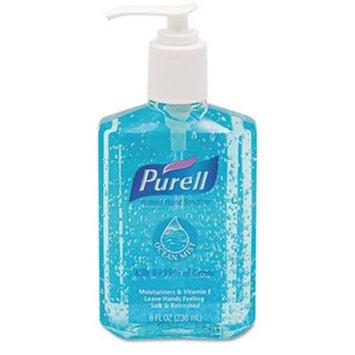 PURELL 301212 Ocean Mist Instant Hand Sanitizer, 8oz Pump Bottle, Blue