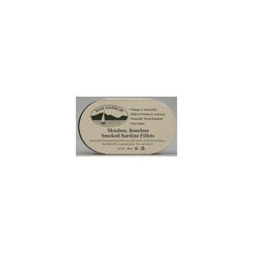 BAR HARBOR Skinless Boneless Smoked Sardine Fillets 6 oz