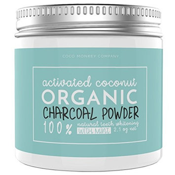 Activated Charcoal Teeth Whitening Powder – Ultimate Natural, Organic & Vegan Gifts – Includes Activated Coconut Charcoal Powder & Ayurvedic Coconut Oil Pulling Sachets