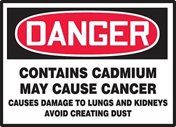 Accu Form CONTAINS CADMIUM MAY CAUSE CANCER CAUSES DAMAGE TO LUNGS AND KIDNEYS AVOID CREATING DUST