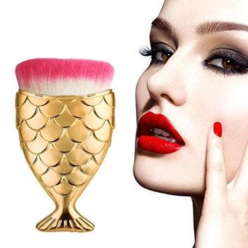 OVERMAL Fish Scale Makeup Brush Fishtail Bottom Brush Powder Blush Makeup Cosmetic Brushes Tool