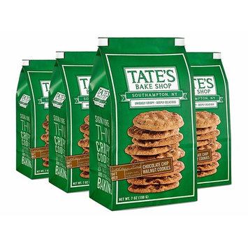 Tate's Bake Shop Walnut Chocolate Chip Cookies, 7 Oz Bag, 4Count [Walnut Chocolate Chip]