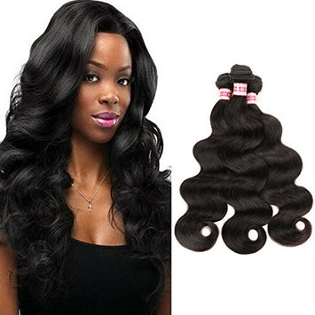 Fabeauty 7a Brazilian Body Wave Virgin Hair 3 Pcs Lot Cheap 100% Unprocessed Human Hair Extensions Natural Black Brazilian Virgin Hair Soft Body Wave Mixed Length 3 Bundles