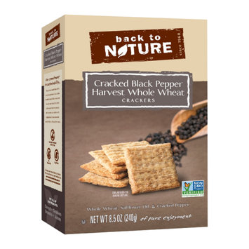 Back To Nature Foods Back To Nature Harvest Whole Wheat Crackers, Cracked Black Pepper, 8.5 oz