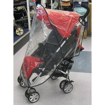 Sashas Rain and Wind Cover for Seperate Open Twin Handle Single Umbrella Type Stroller