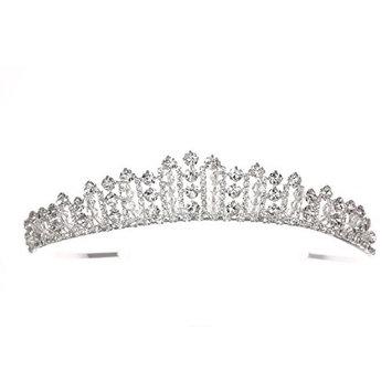 Regal Princess Rhinestone Crystal Bridal Wedding Tiara Crown T1143