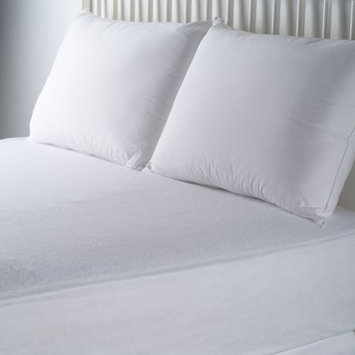 American Textile Company Mainstays Waterproof Fitted Soft Top Mattress Protector, White