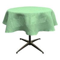 LA Linen TCBurlap58R-Mint Dyed Natural Burlap Tablecloth Mint - 58 in. Round