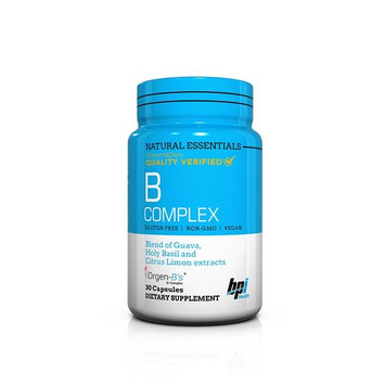 BPI Sports Natural Essentials, Vitamin B Complex Including B1, B2, B3, B6, B9 and B5 From Organic Guava, Holy Basil and Lemon Extracts 30 Count