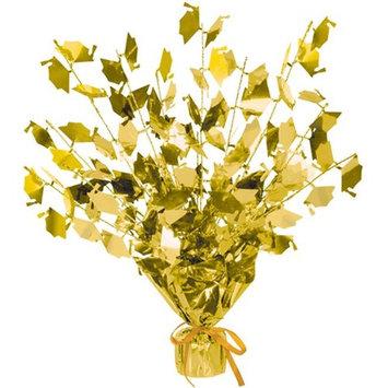 DDI 511963 Graduate Cap Gleam 'N Burst Centerpiece - Gold Case of 12