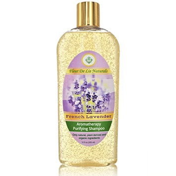 Natural & Organic Restorative Shampoo - French Lavender, Premium Hair Regrow Shampoo for Men and Women - with Biotin, Hemp Oil, Aloe Vera, Ginseng for Thin, Frizzy, Dry, Split Ends Hair - 12 oz