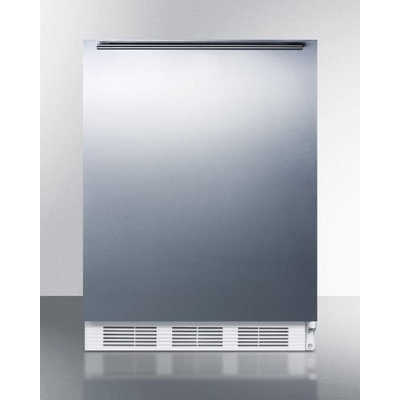 Summit ALF620SSHH 3.2 cu. ft. Freestanding All Freezer with Stainless Steel Door and Horizontal Handle