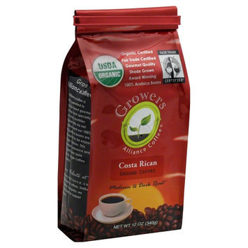 Growers Alliance Coffee Organic Ground Coffee Costa Rica 12 oz
