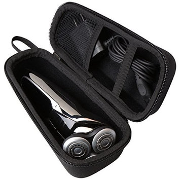 Aproca Hard Travel Storage Case Compatible Philips Norelco Electric Shaver 9700 5570 5750 5550 S9721/89 S9721/84 S5572/90 S5660/84 S5590/81(black-small)