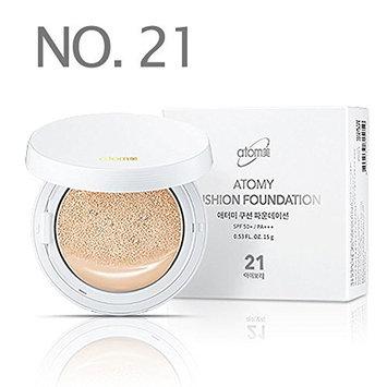 [ ATOMY ] Cushion Foundation SPF50 / PA+++ (15g x 2) (No. 21 Vanilla) : Beauty