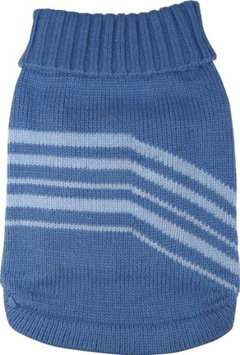 Dogit Style Striped Sweater - Blue - Large