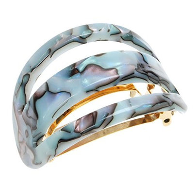 France Luxe Cutout Oval Ponytail Barrette - South Sea