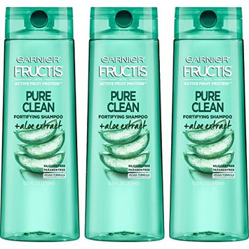 Garnier Hair Care Fructis Pure Clean Shampoo, 12.5 Fluid Ounce (Packaging May Vary), 3 Count