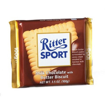 RITTER SPORT: Milk Butter Biscuit Bar: 11 Count