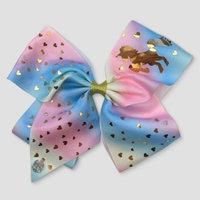 Girls' Nickelodeon JoJo Siwa Pastel Unicorn Bow Hair Clip - Pink/Blue