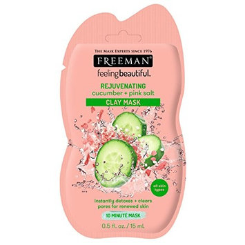 Freeman Facial Cucumber + Pink Salt Clay Mask Pack (6 Pieces)
