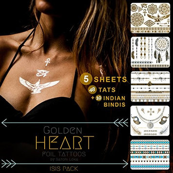 Silver and Gold Temporary Foil Tattoos - Flash Your Tats (97 Unique Designs)