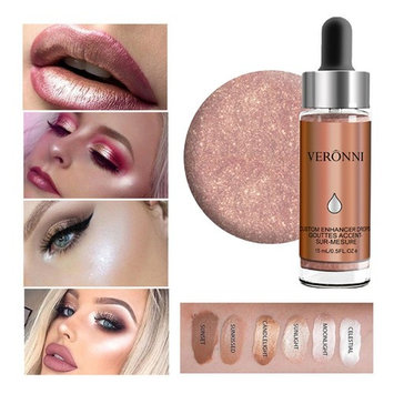 Urberry Highlighter Make Up Cream Concealer Shimmer Face Concealer Eye Glow Lip Lighter Shimmer Highlighters drops (Candlelight)